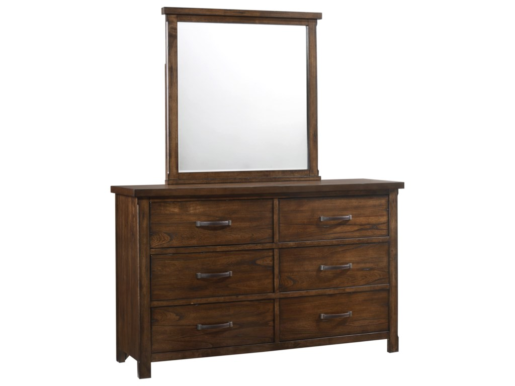 United Furniture Industries CameronDresser with Mirror