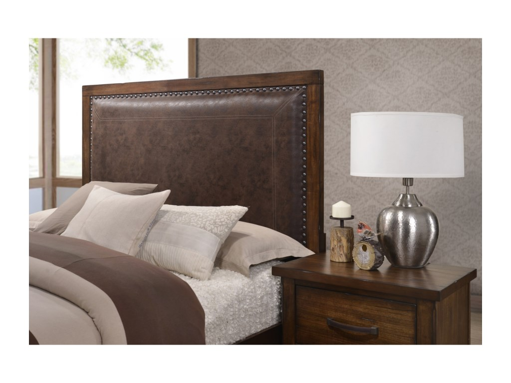 United Furniture Industries CameronQueen Upholstered Storage Bed