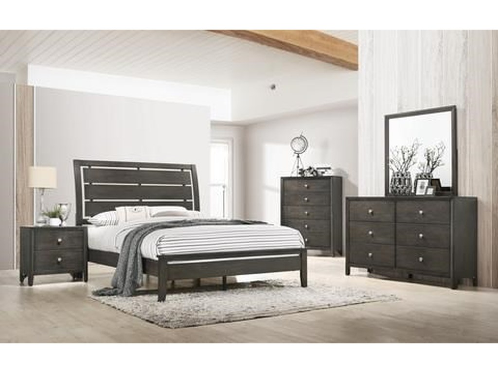 United Furniture Industries Grant6 Piece King Bedroom Group