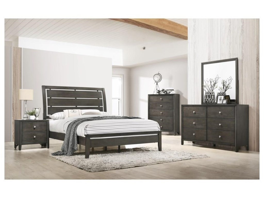 United Furniture Industries GrantQueen Panel Bed Package