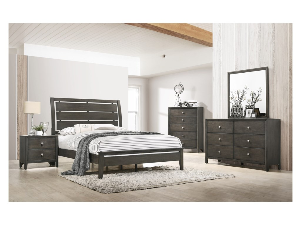 United Furniture Industries GrantQueen Bedroom Group