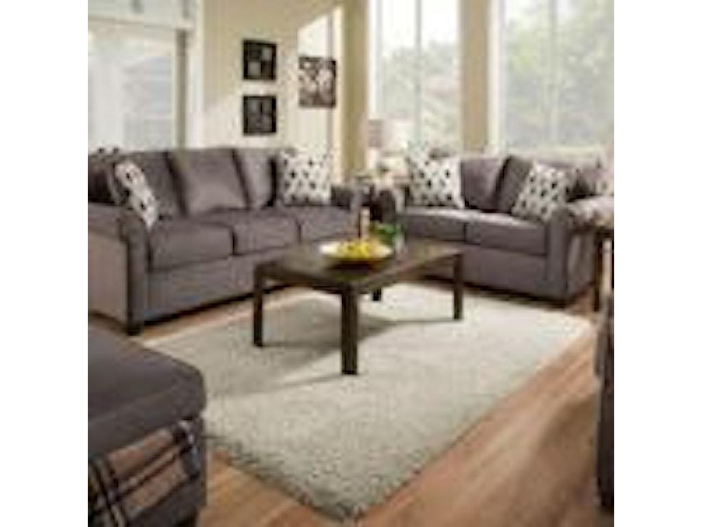 United Furniture Industries 1530Storage Ottoman