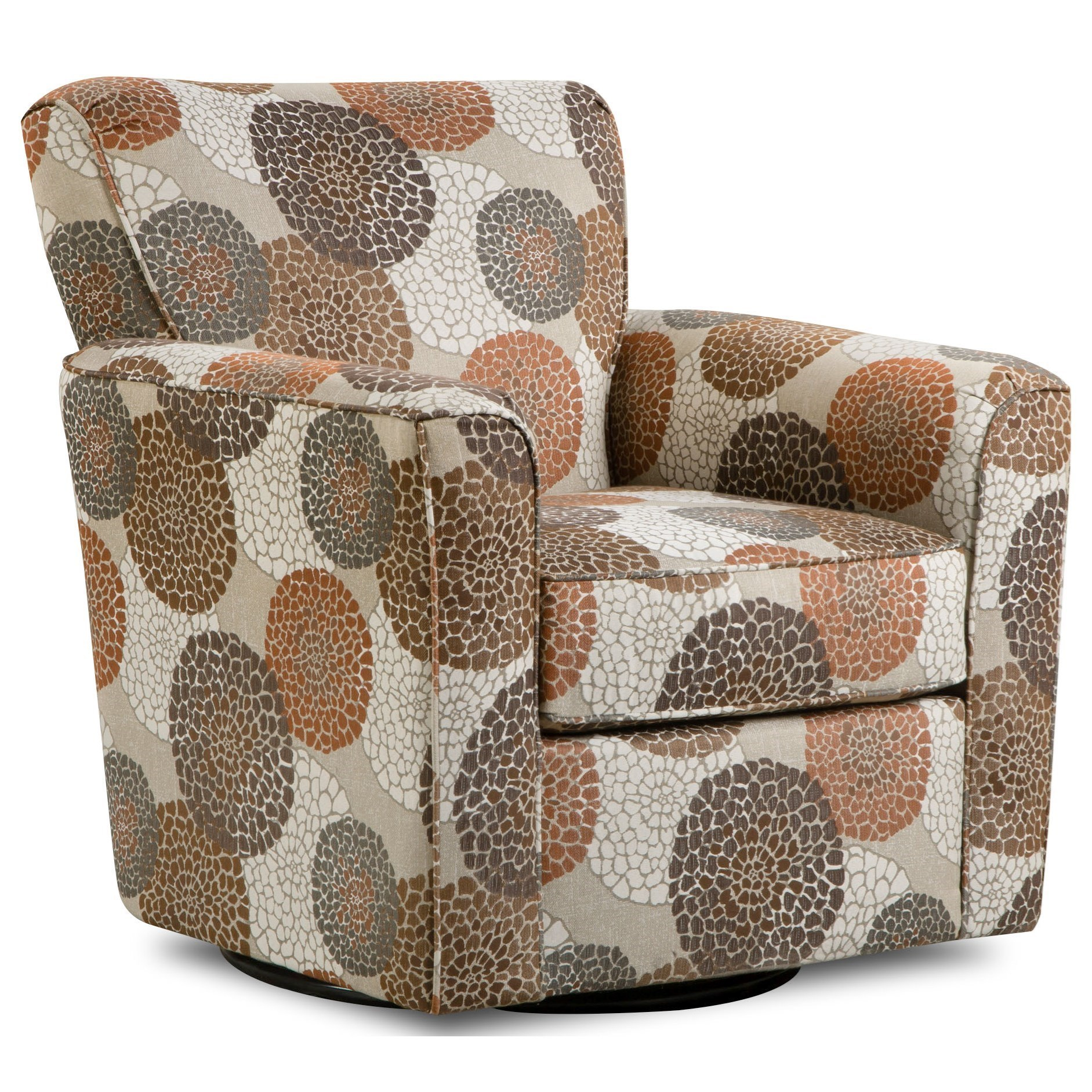 United Furniture Industries 160 Casual Swivel Glider Chair