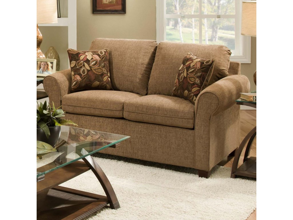 Simmons Upholstery 1630Transitional Loveseat