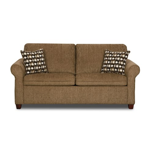 United Furniture Industries 1630 Transitional Full Rolled Arm Sleeper