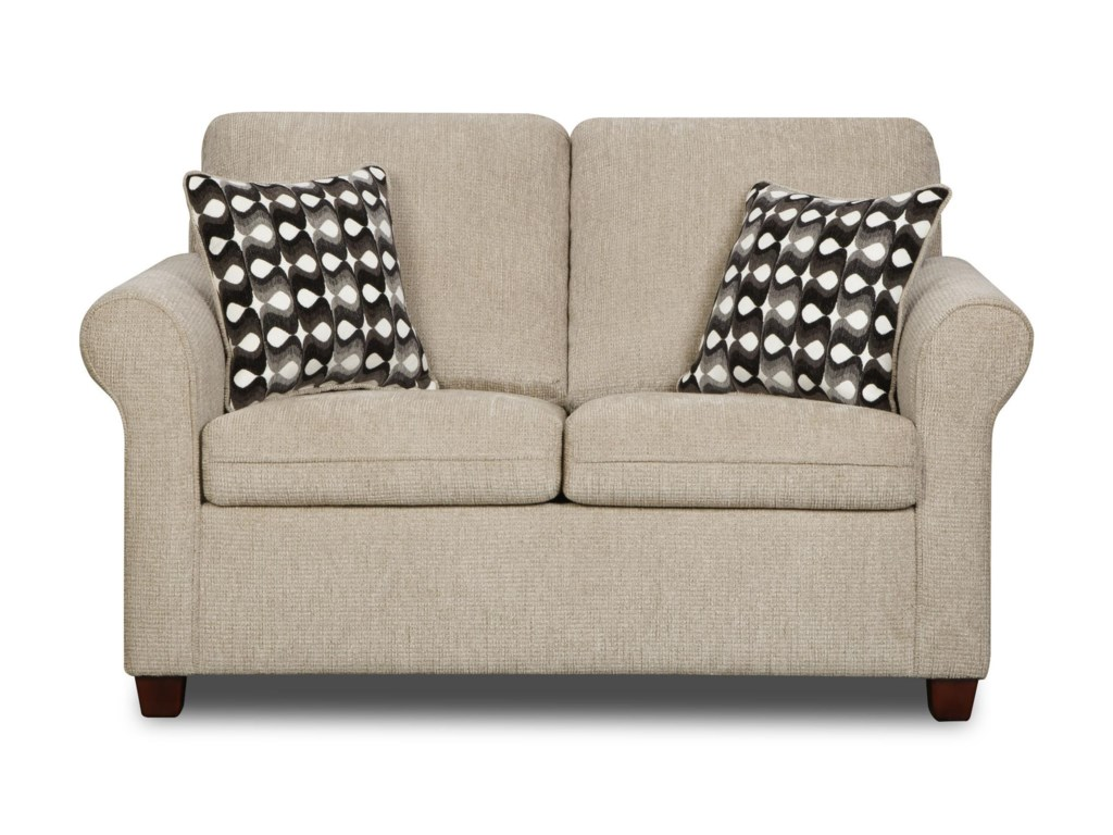 United Furniture Industries 1630Transitional Loveseat
