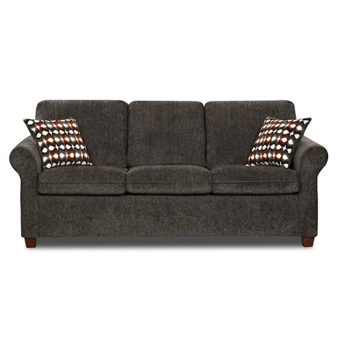 United Furniture Industries Reverb Transitional Queen Rolled Arm Sofa Sleeper