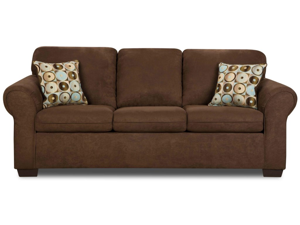 Simmons Upholstery 1640Queen Sleeper Sofa