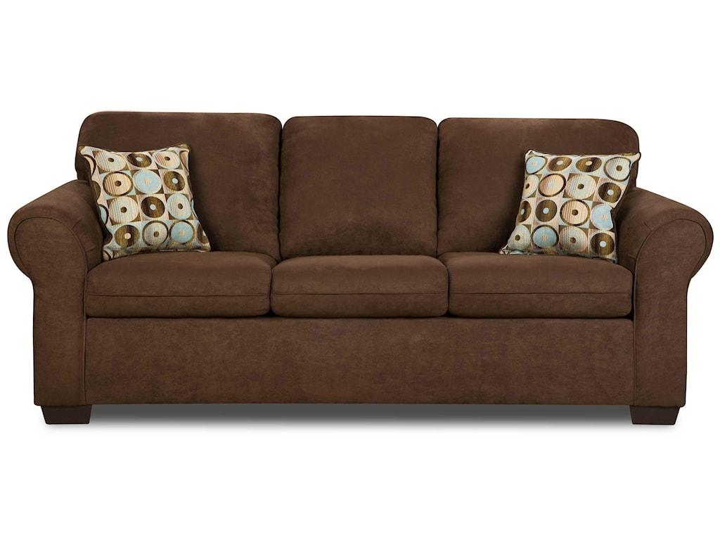 Simmons Upholstery 1640Queen Sleeper Sofa