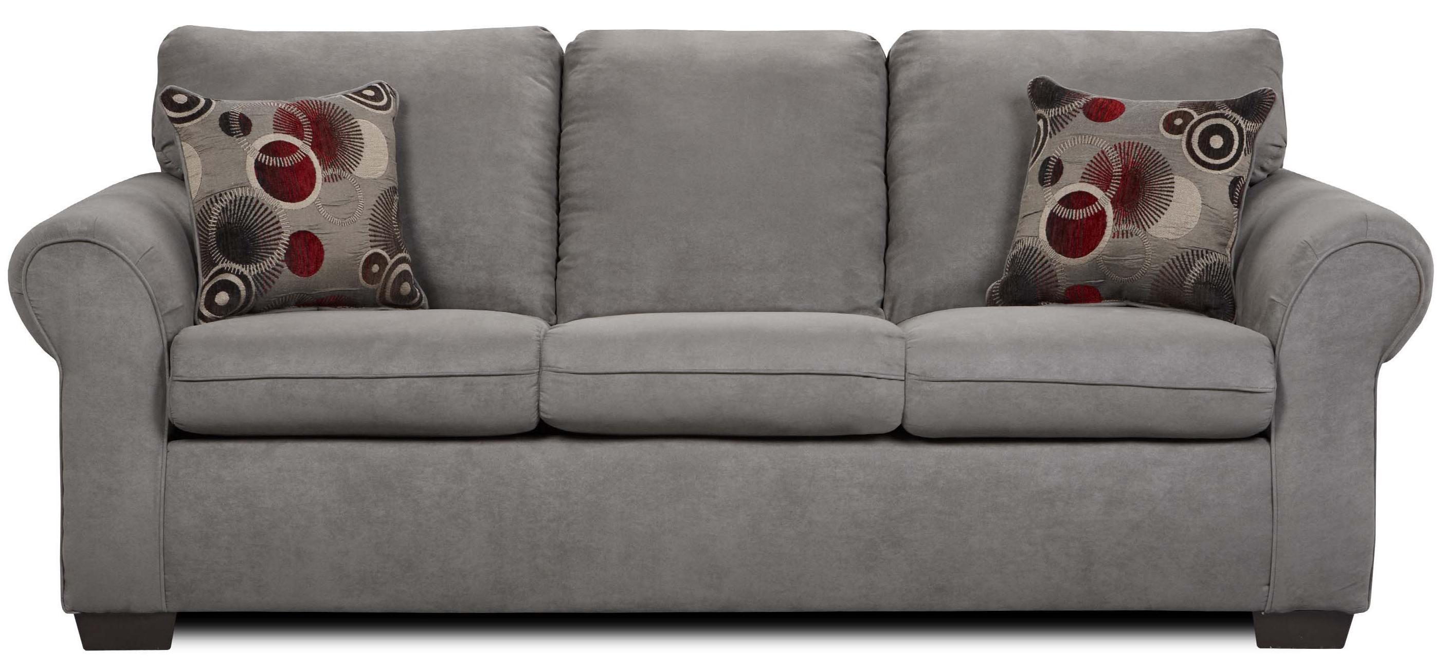simmons upholstery 1640 queen sleeper sofa with exposed wood feet rh dunkandbright com simmons full sleeper sofa simmons upholstery sleeper sofa