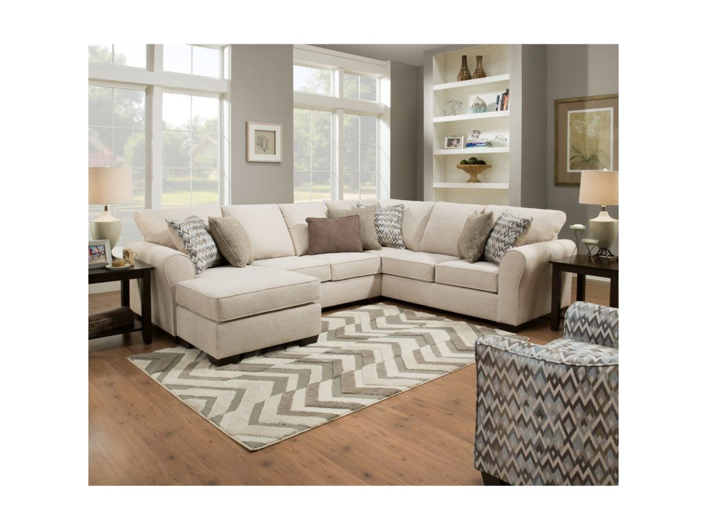 United Furniture Industries 1657 Sectional Sofa