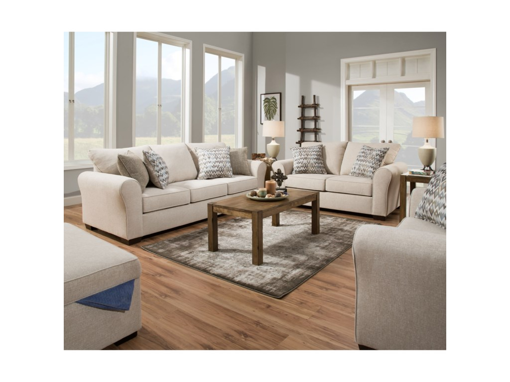 United Furniture Industries 1657 Sofa