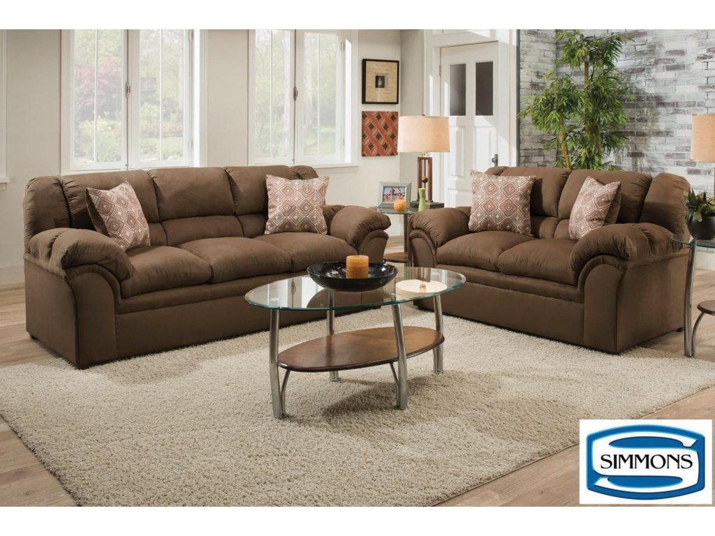 Simmons Upholstery 1720 UnitedCasual Living Room Group