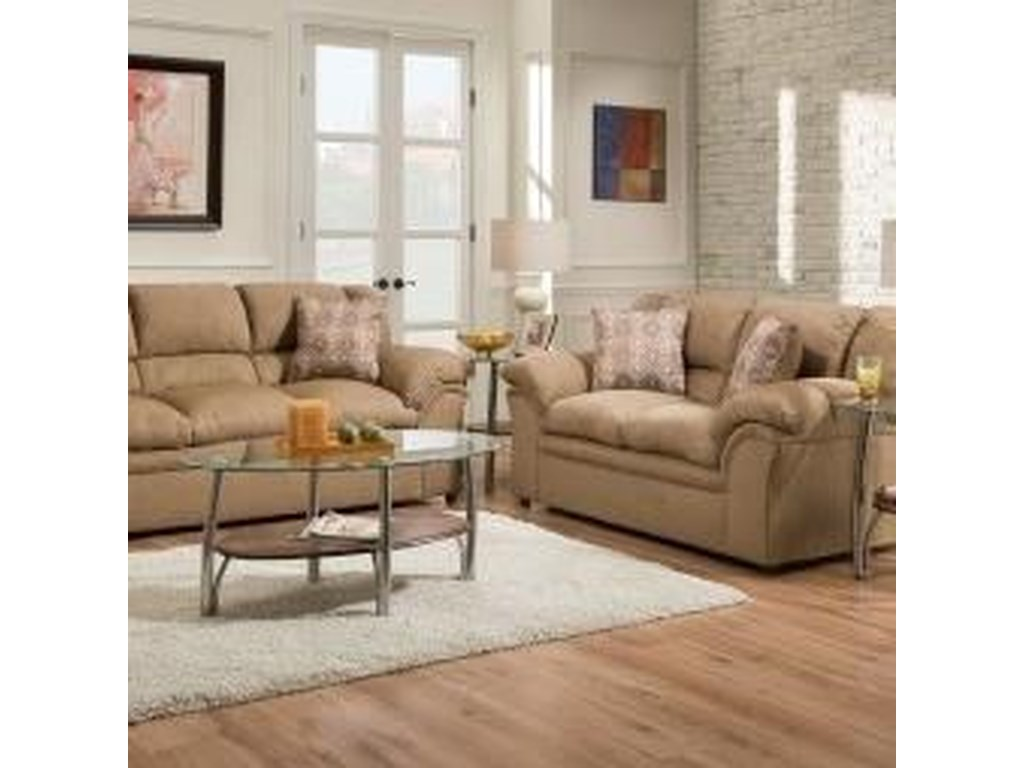 United Furniture Industries 1720 UnitedCasual Loveseat