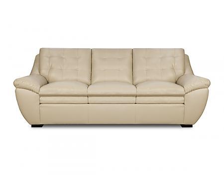 Simmons Upholstery Winner PearlWinner Bonded Leather Sofa In Pearl ...