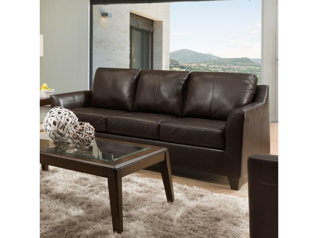 Lane 2029 2029-03 Contemporary Sofa with Flared Arms | Household ...