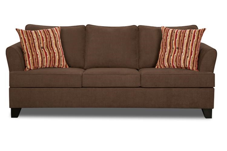 Simmons Upholstery 2049 Transitional Queen Sleeper Sofa with
