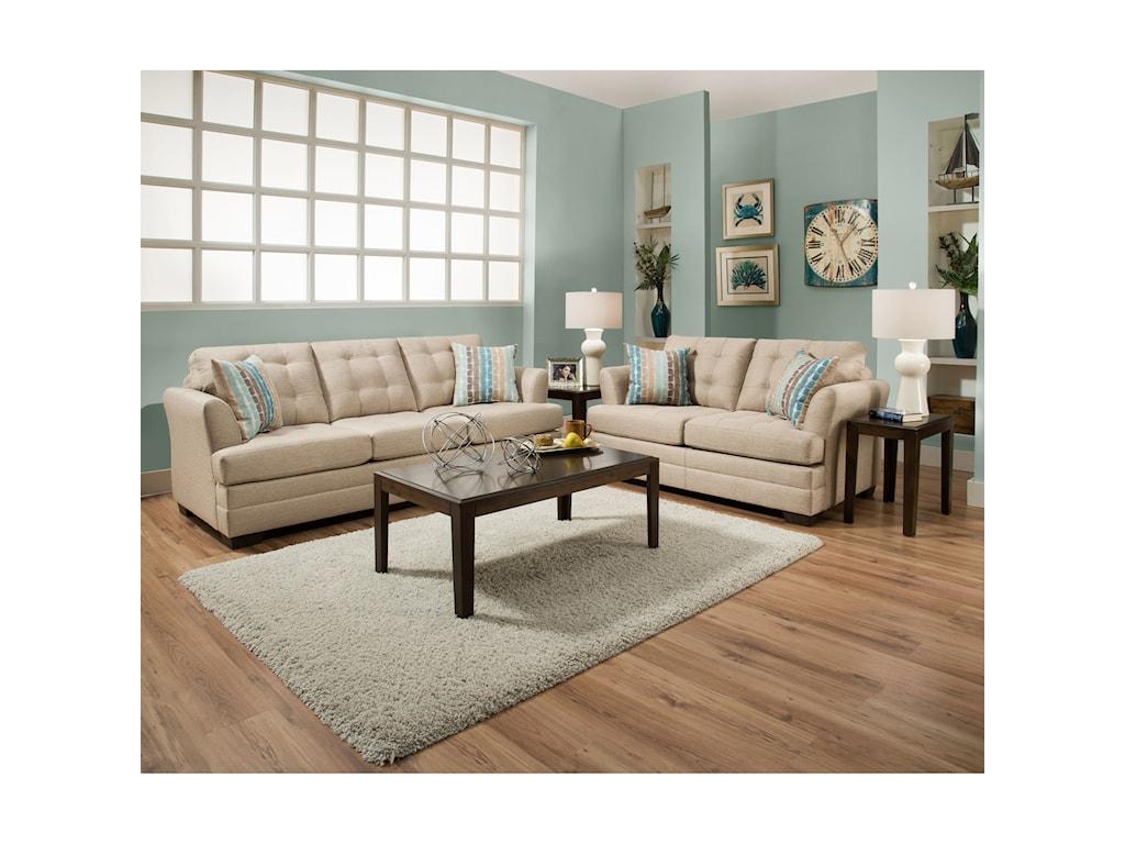 United Furniture Industries 2057Loveseat