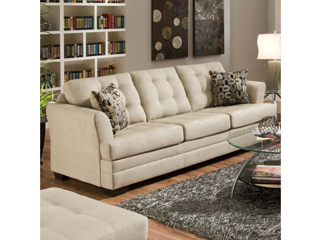 Simmons Upholstery 2057 2057SOFA Contemporarty Sofa with Tufted ...