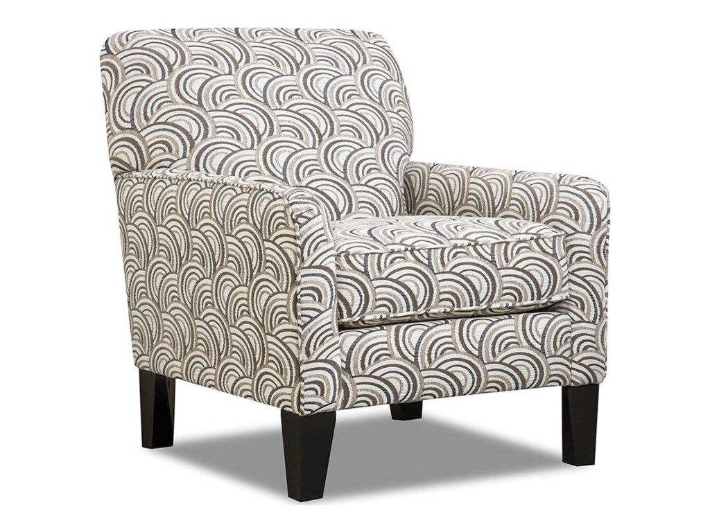 Simmons Upholstery 2153 Transitional Accent Chair With Tight Seat Back Conlin S Furniture Upholstered Chairs
