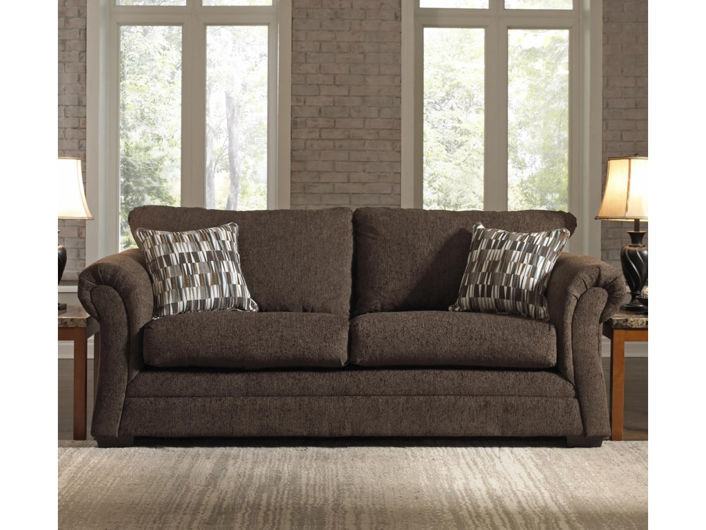 United Furniture Industries 2256Transitional Stationary Sleeper Sofa