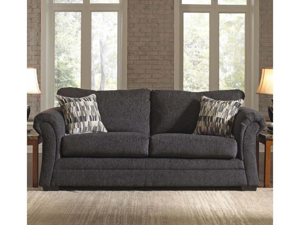 United Furniture Industries 2256Transitional Stationary Sofa