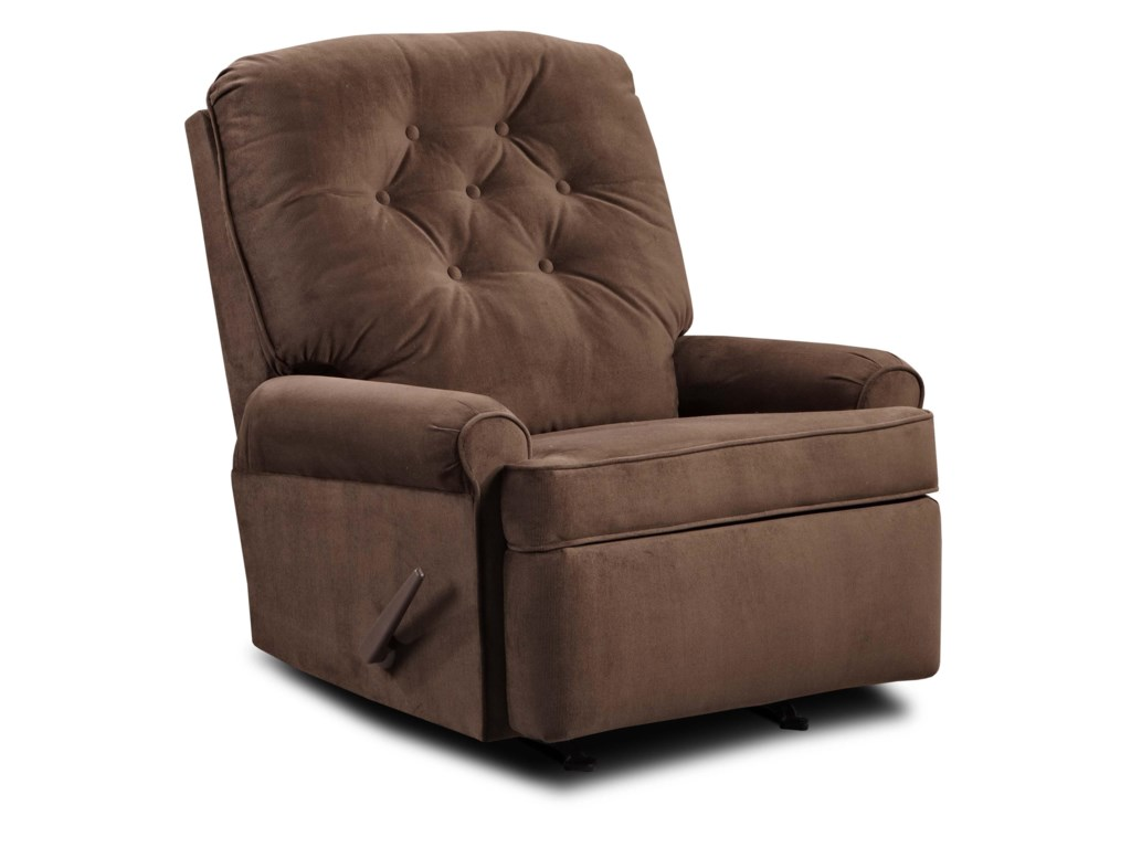 United Furniture Industries 241Transitional Rocker Recliner