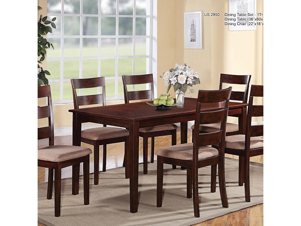 U.S. Furniture Inc 29507 Piece Dining Set