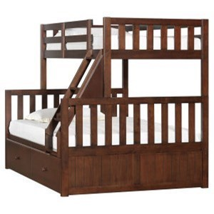 United Furniture Industries 3000 Mission Hills Chesnut Youth Bunk Bed With  Storage