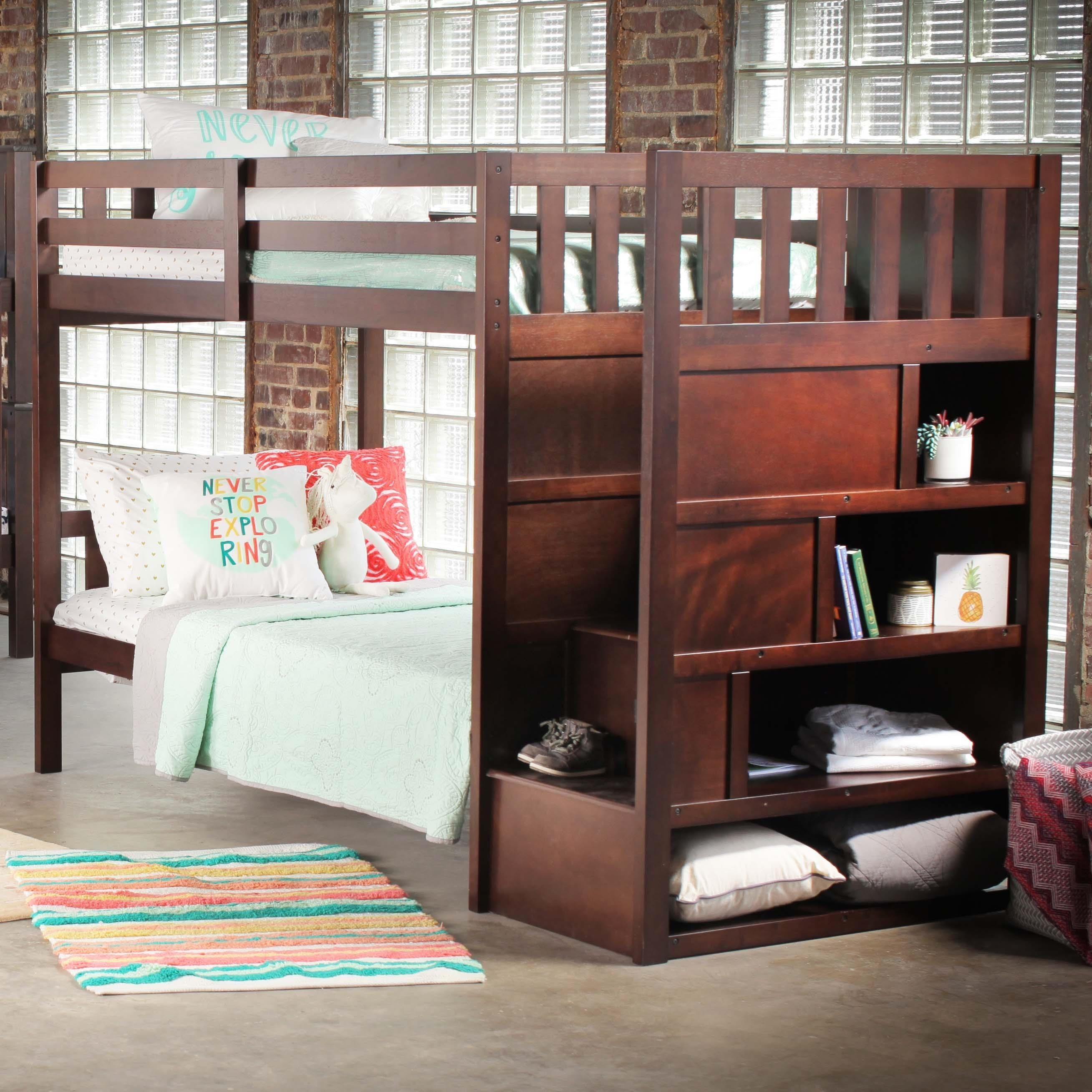 Superieur Simmons Upholstery 3000 Mission Hills ChesnutBunkbed With Stairs And Storage  ...