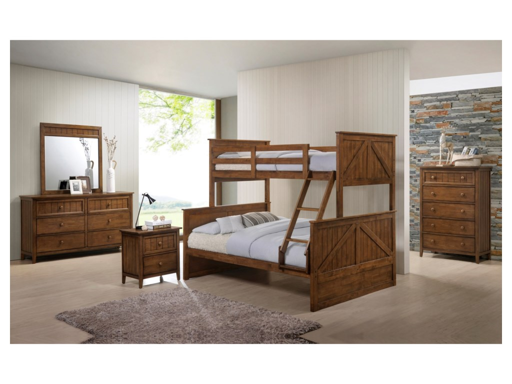 United Furniture Industries AshlandTwin Over Full Bunkbed Room Group