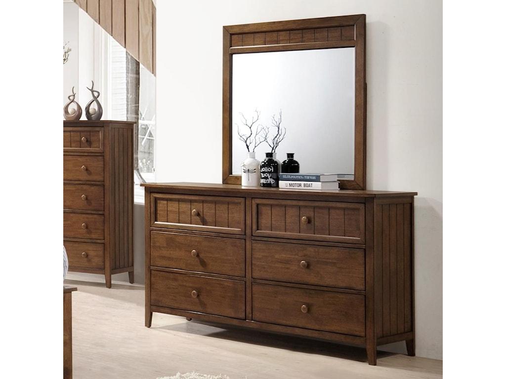 United Furniture Industries AshlandDresser and Mirror Set