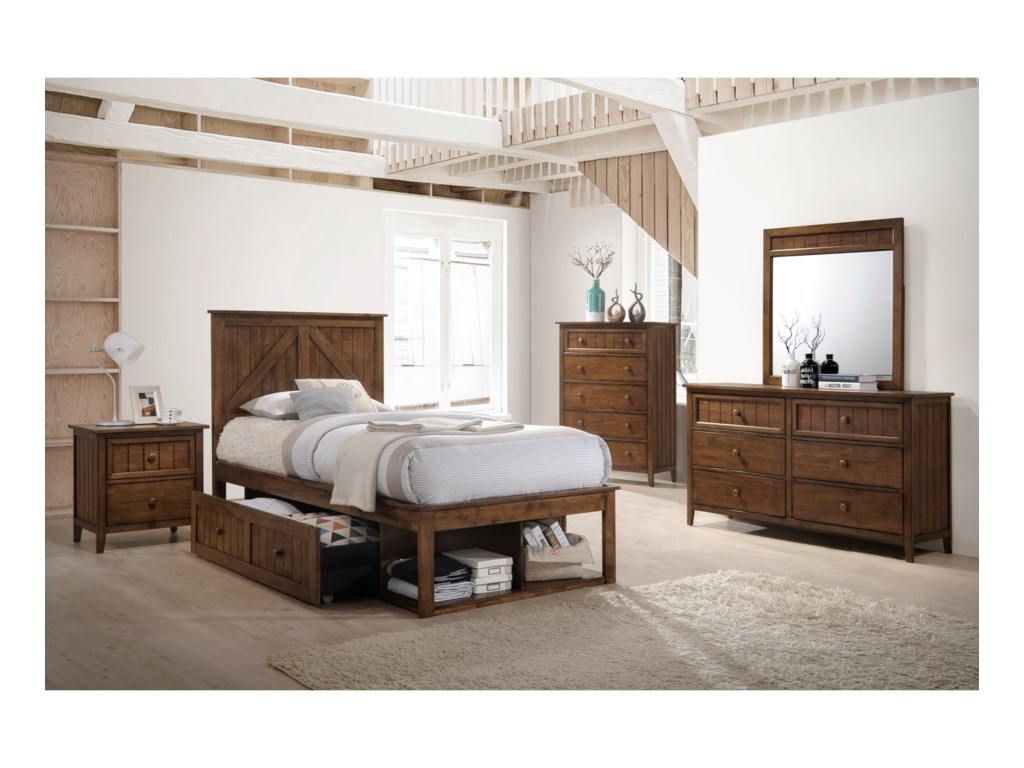 United Furniture Industries AshlandTwin Captains Bed