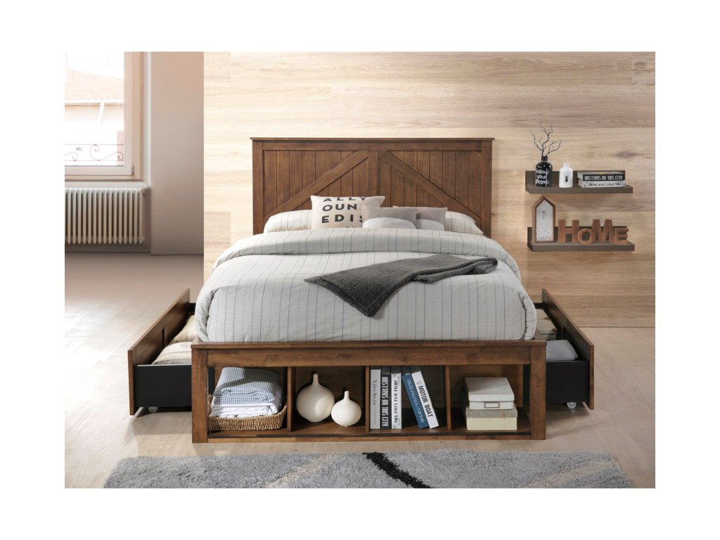 United Furniture Industries AshlandFull Captains Bed