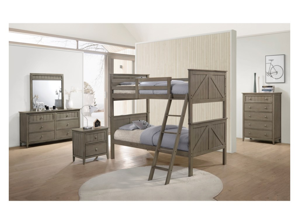 United Furniture Industries AshlandTwin Over Twin Bunkbed Room Group