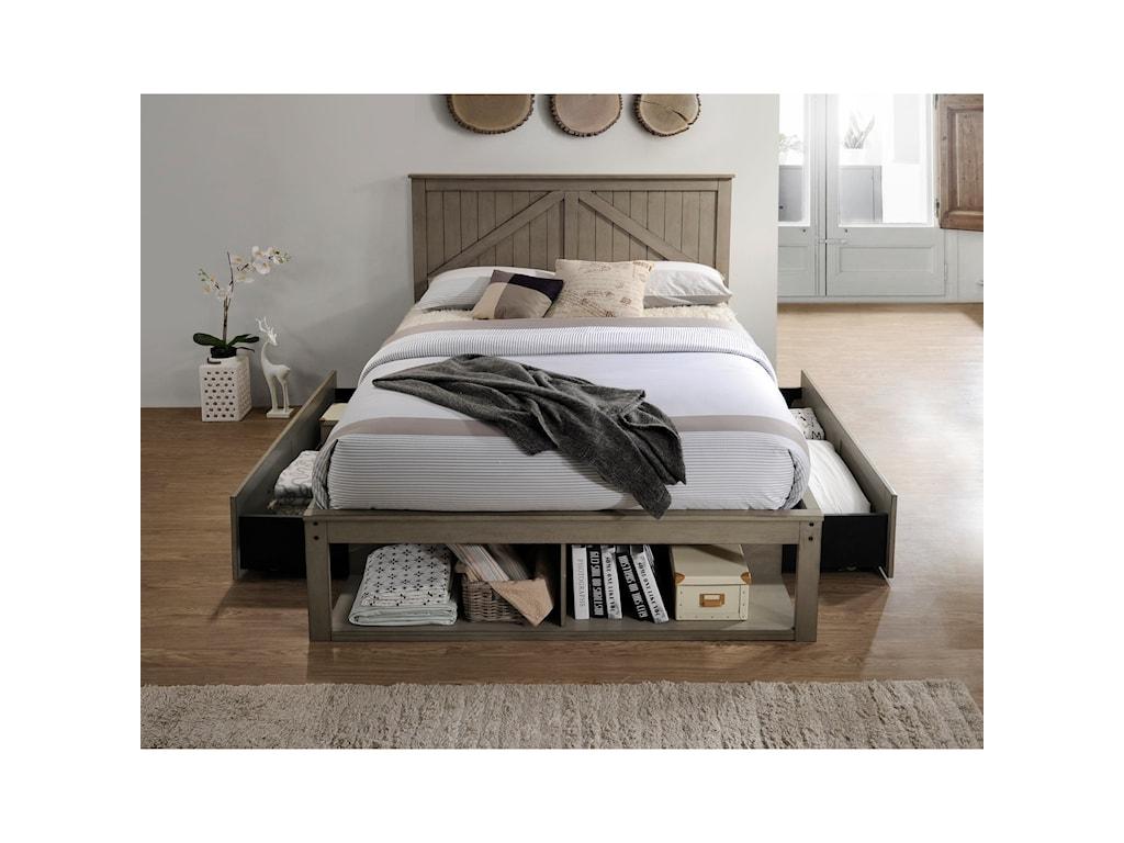 United Furniture Industries AshlandFull Captains Bed