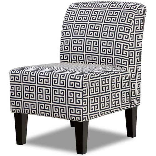United Furniture Industries 3028 Contemporary Armless Accent Chair