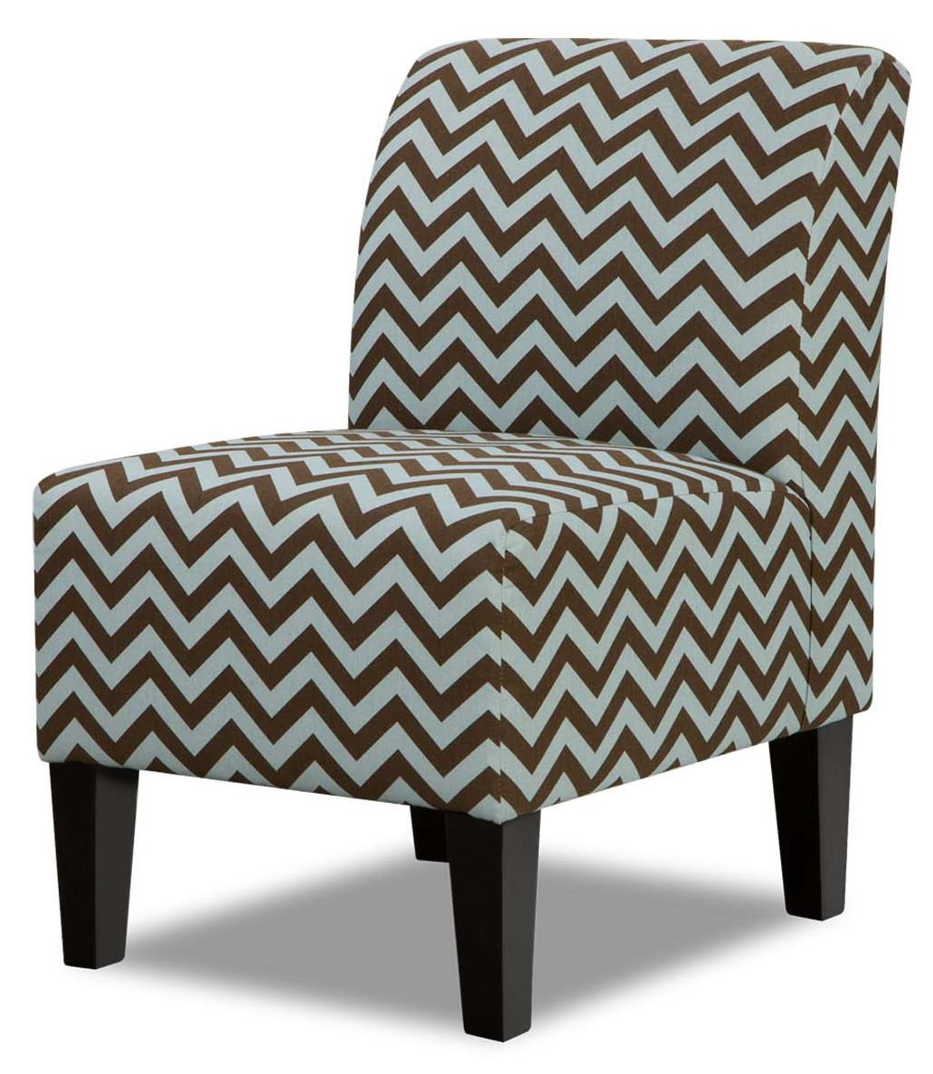 Shown In: Brown And Blue Chevron Pattern