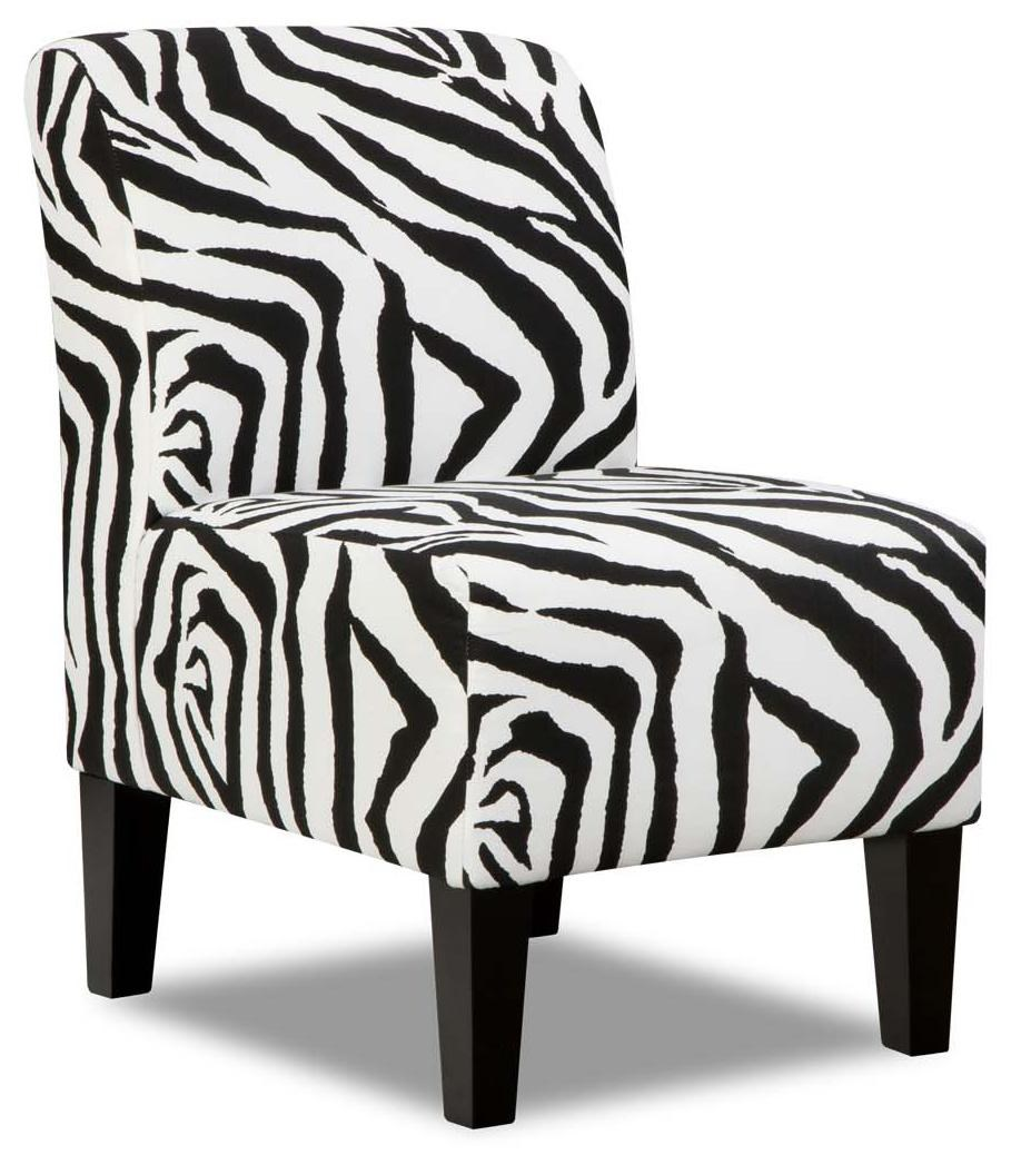 Simmons Upholstery 3028 Contemporary Armless Accent Chair Dunk