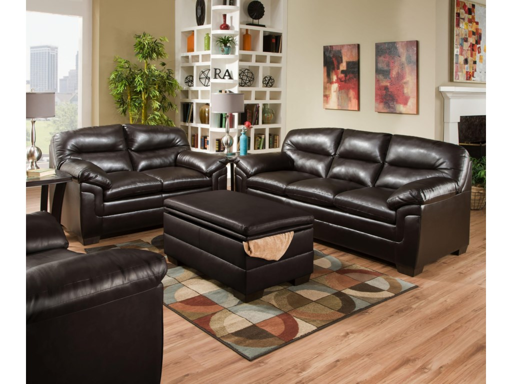 Simmons Upholstery 3615Stationary Living Room Group