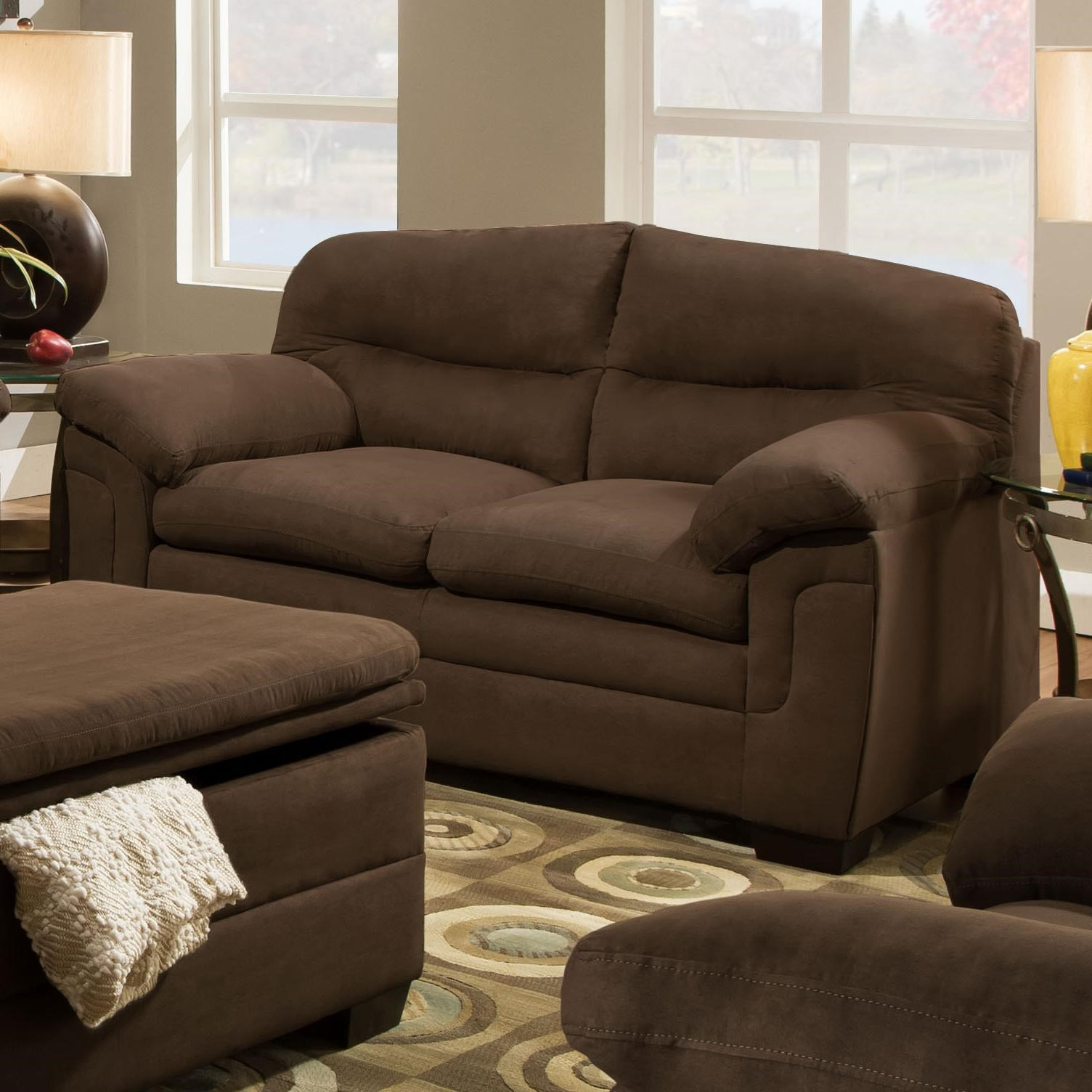 Simmons Upholstery 3615Casual Loveseat ...