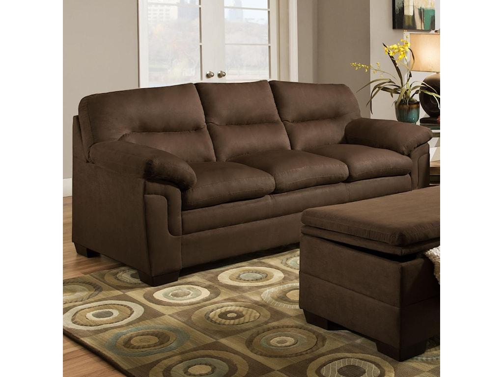 Simmons Upholstery 3615casual Stationary Sofa