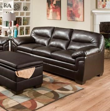 Simmons Upholstery 3615 3615sofa Casual Stationary Sofa With Plush