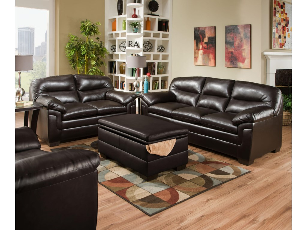 United Furniture Industries 3615Casual Stationary Sofa