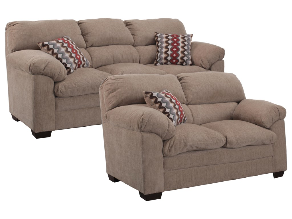 Simmons Upholstery 3683Sofa and Loveseat