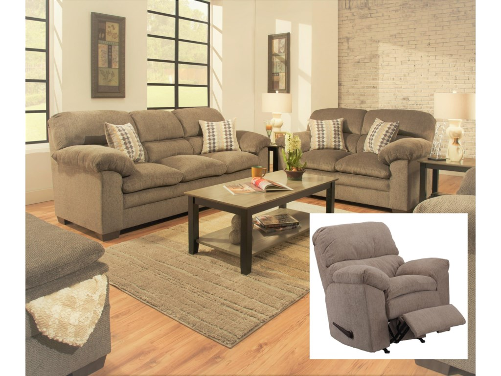 Simmons Upholstery 3683Sofa Love Recliner and 32