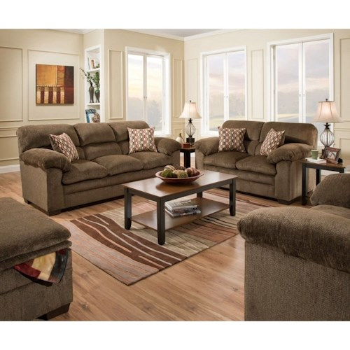 United Furniture Industries 3683 Living Room Group Bullard