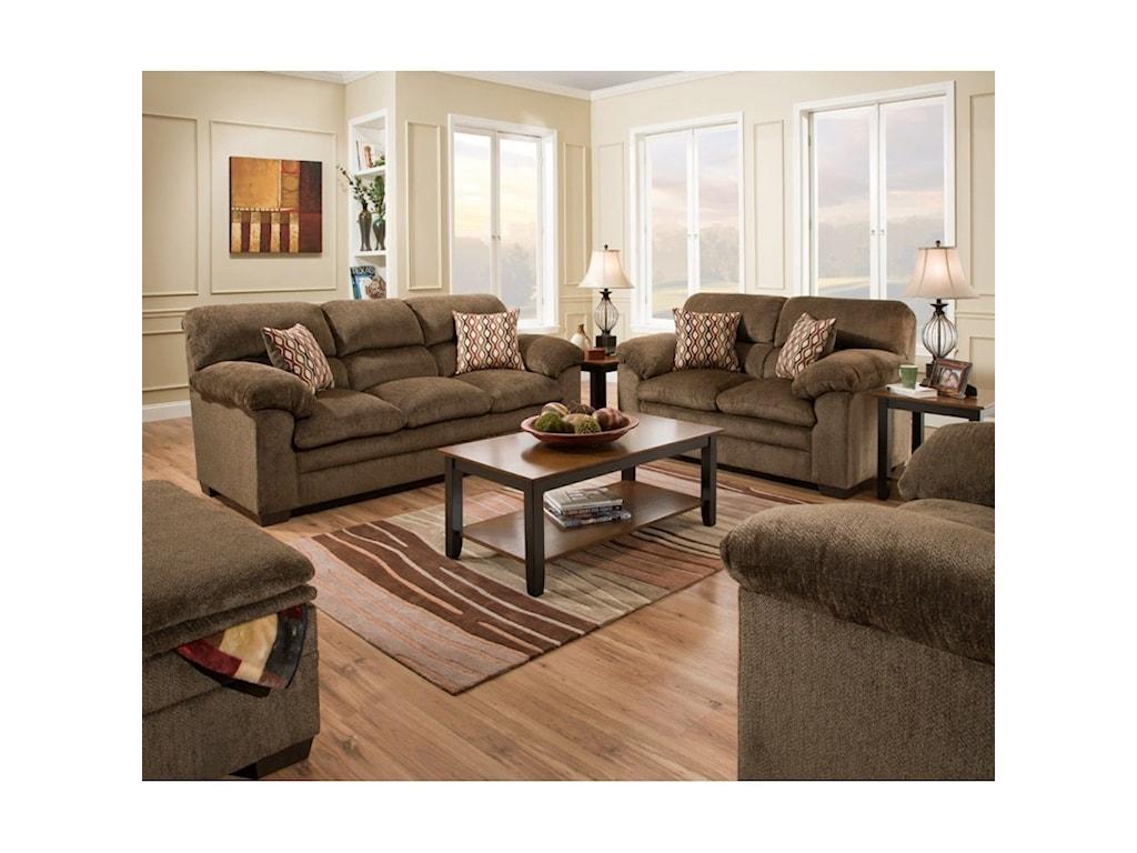 Simmons Upholstery 3683Loveseat