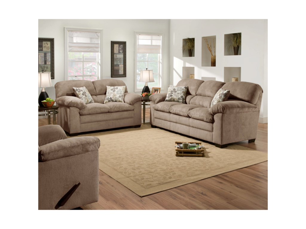 Blue Hill 3684Stationary Loveseat