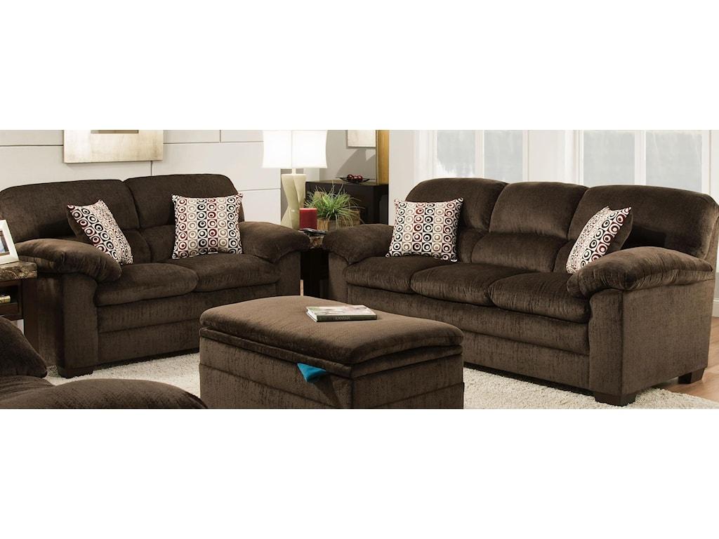 United Furniture Industries 3684Sofa & Love Seat